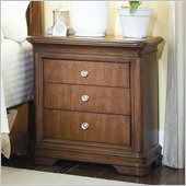 Lea Elite Classics Nightstand in Brown Cherry Finish