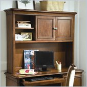 Lea Elite Classics Computer Hutch in Brown Cherry Finish