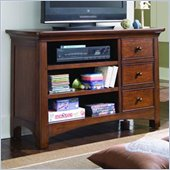 Lea Elite Crossover Media Chest in Burnished Cherry Finish