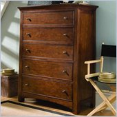 Lea Elite Crossover 5 Drawer Chest in Burnished Cherry Finish
