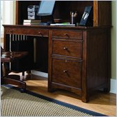 Lea Elite Crossover Wood Top Desk in Burnished Cherry Finish