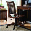 ADD TO YOUR SET: Lea Elite Crossover Desk Chair in Burnished Cherry Finish