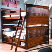 Lea Elite Crossover Bunk Bed in Burnished Cherry Finish