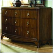 Lea Elite Rhapsody Wood 9 Drawer Triple Dresser in Cherry Finish
