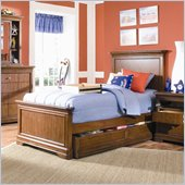 Lea Elite Classics Twin Panel Bed in Brown Cherry Finish