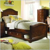 Lea Elite Rhapsody Panel Bed in Cherry Finish