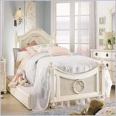 Lea Emma's Treasure Kids Wood Poster Bed 5 Piece Bedroom Set in Vintage White