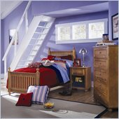 Lea My Style Kids Twin Wood Slat Bed 4 Piece Bedroom Set