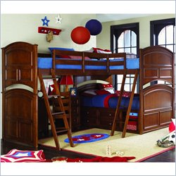 Lea Deer Run Triple Bunk Bed 6 Piece Bedroom Set