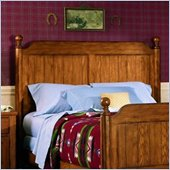 Lea Jackson Creek Full Poster Headboard in Distressed Medium Brown Oak Finish