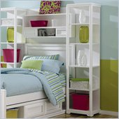 Lea Elite Reflections Kids Bookcase/Pier in Aspen White Finish