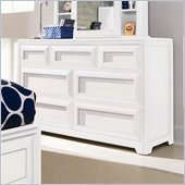 Lea Elite Reflections Kids 7 Drawer Double Dresser in Aspen White Finish