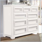 Lea Elite Reflections Kids 9 Drawer Double Dresser in Aspen White Finish