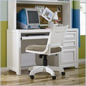 Lea Elite Reflections Kids Student Wood Computer Desk in Aspen White