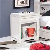 Lea Elite Reflections Kids Nightstand in Aspen White Finish