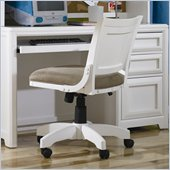 Lea Elite Reflections Kids Swivel Desk Chair in Aspen White Finish