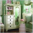 ADD TO YOUR SET: Lea Emma's Treasures Mirrored Door Chest Armoire in White