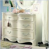 Lea Jessica McClintock Romance 4 Drawer Double Dresser in Antique White