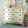 ADD TO YOUR SET: Lea Emma's Treasures 6 Drawer Double Dresser in White