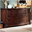 ADD TO YOUR SET: Lea Jessica McClintock Heirloom 7 Drawer Double Dresser with Dark Cherry Wood Finish