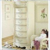 Lea Jessica McClintock Romance Kids 7 Drawer Semainier Lingerie Chest in Antique White Finish