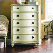Lea Emma's Treasures Kids 5 Drawer Chest in Vintage White Finish