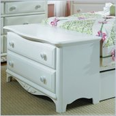 Lea Haley 2 Drawer Footboard Single Dresser in White Finish
