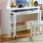 Lea Haley Kids Wood Top Student Desk in White Finish