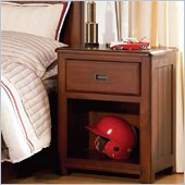 Lea Dillon 1 Drawer Nightstand in Distressed Brown Cherry Finish