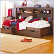 ADD TO YOUR SET: Lea Dillon Kids Platform Bed in Distressed Brown Cherry Finish