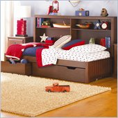 Lea Dillon Kids Platform Bed in Distressed Brown Cherry Finish