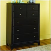 Lea Midtown 5 Drawer Chest in Dark Cherry Finish