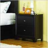 Lea Midtown 2 Drawer Nightstand in Dark Cherry Finish