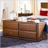 Lea Dillon Footboard Dresser in Distressed Brown Cherry Finish