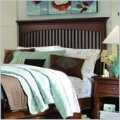 Lea Elite Crossover Slat Headboard in Burnished Cherry Finish