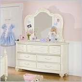Lea Jessica McClintock Romance 7 Drawer Double Dresser and Mirror Set