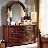 Lea Jessica McClintock Heirloom 7 Drawer Double Dresser and Mirror Set