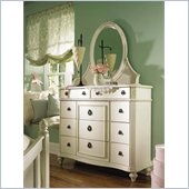 Lea Emma's Treasures Bureau Triple Dresser and Mirror Set in White