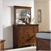 Lea Elite Crossover 10 Drawer Bureau Double Dresser and Mirror Set