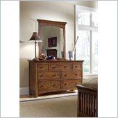 Lea Elite Crossover 7 Drawer Double Dresser and Vertical Mirror Set