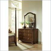 Lea Elite Rhapsody Wood Dresser and Landscape Mirror Set in Cherry