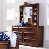 Lea Elite Expressions Kids 7 Drawer Double Dresser and Mirror Set