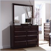 Lea Elite Expressions Kids 9 Drawer Double Dresser and Mirror Set