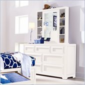 Lea Elite Reflections Kids 7 Drawer Double Dresser and Mirror Set