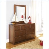 Lea Dillon 7 Drawer Double Dresser and Vertical Mirror Set