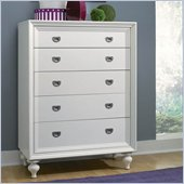 Lea Elite Zoe Drawer Chest in White