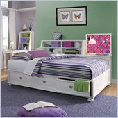 Lea Elite Zoe Storage Platform Bed in White with Slate Pack