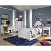 Lea Elite Zoe Panel Bed in White