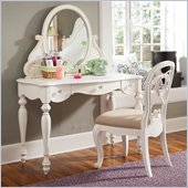 Lea Elite Vintage Boutique Vanity Desk-KD in Vintage White