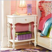 Lea Elite Vintage Boutique Leg Nightstand-KD in Vintage White